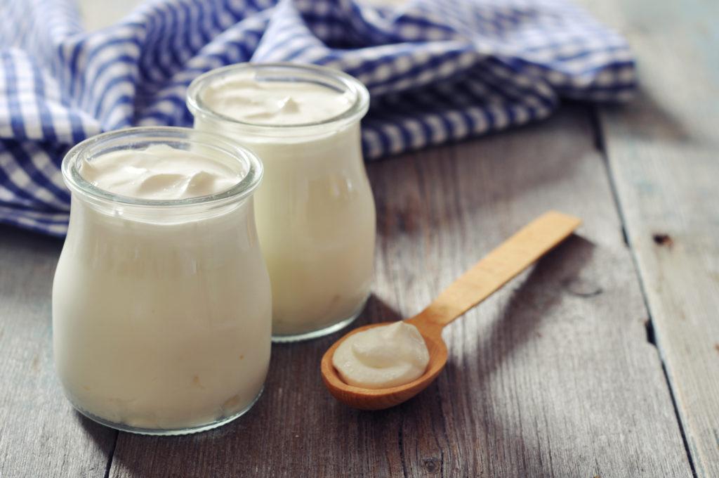 alimentos para queda de cabelo iogurte
