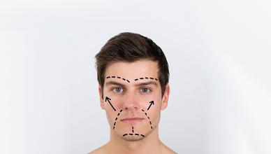 Tipos de rostos masculinos e cabelo